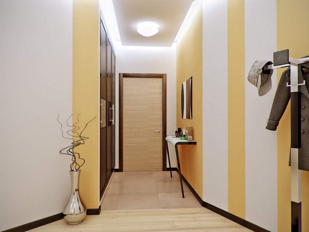 фото коридоре с узком ремонт в