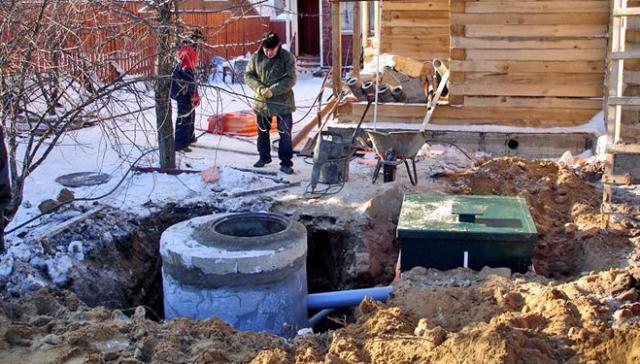 Установка централизованной канализации