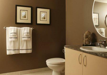 Окрашивание ванной комнаты